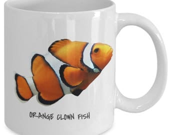 Orange Clown Fish - Tropical Fish Ceramic Mug Collection - Great Gift For Scuba Divers