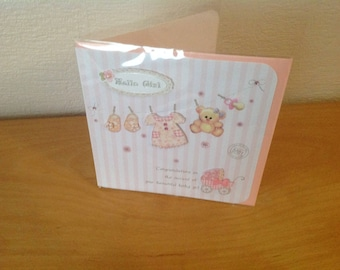 Card with envelope girl birthstone
