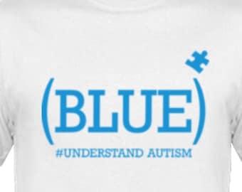 BLUE understand autism t-shirt