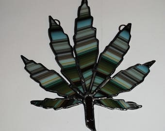 Limited edition Marijuanna stained glass suncatcher