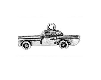set of 3 charms silver car (D23)
