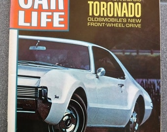 CAR LIFE MAGAZINE From November 1965...Olds Toronado...Chevelle 396...Will A Computer Drive Your Car?... Street Hemi And More!