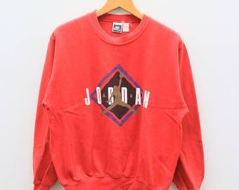 Vintage NIKE Michael JORDAN Basketball Sportswear Red Sweater Sweatshirt