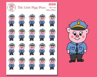 Police Officer Planner Stickers - Police Officer uniform -Police Stickers - Career Stickers - Job Stickers - Police Stickers - [Job 1-05]