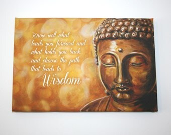 "Wise Buddha -  9""x12"" Canvas Print"