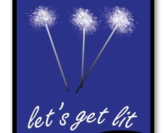 Fourth of July Printable - Sparklers | Party Decorations | Party Sign | 4th of July | Instant Download