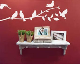 Birds on a Branch2 Wall Decal Sticker