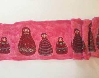 Nesting Dolls - hand painted sock blank