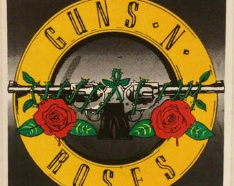 "GUNS N' ROSES Rare Collectible 80's Vintage Sticker 4"" x 4"""