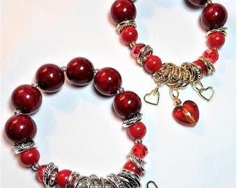 Chunky Heart Charm Bracelet