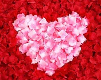 georgeous RED colour confetti artifical flower petals x1000 pcs