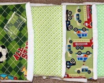 Burp Cloths - Set of 4 ~ 2B-1151