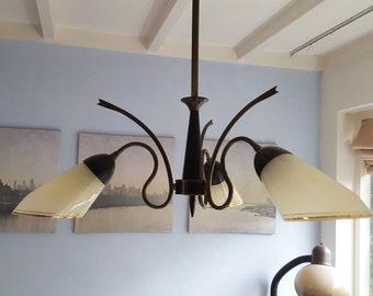 Elegant brass pendant light from the 50s pendant light