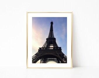 11x14 Paris Eiffel Tower Perspective Sunset Photography Print, Paris Photograph, Eiffel Tower Photograph, Paris Print
