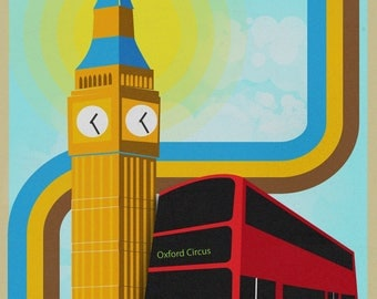 London Town Illustration Print