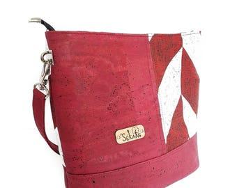 VEGAN Cork shoulder bag. Vegetable fabrics. To order 100% custom creation. FREE shipping