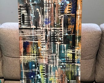 CityView. Abstract painting, canvas, modern, acrylic painting, Abstract, abstract art ,canvas art, modern, original