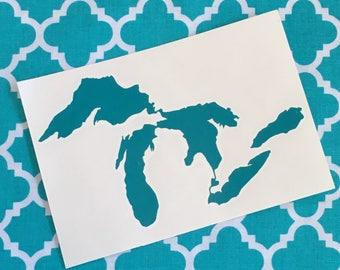 Michigan Great Lakes Vinyl Decal