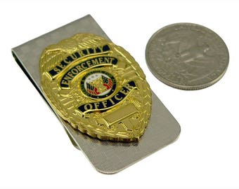 Security Enforcement Officer SEO Money Clip Chrome NEW