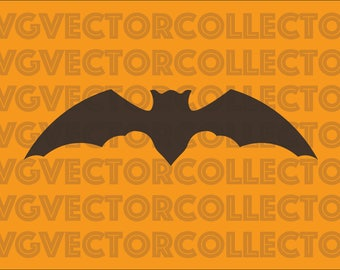 Halloween Bat 1, SVG EPS Png DFX, Clip Art, Instant Digital Download