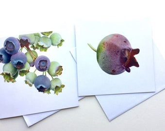 Blueberry greetings cards