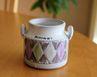 Laholms Keramik ceramic // Laholm pottery // ceramic jar // Swedish Mid Century Kitchen Ceramics // Swedish pottery // 1960s // Sgraffito //