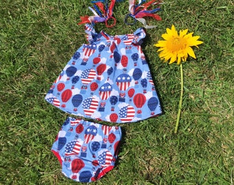 Patriotic Summer Dress and Bloomers