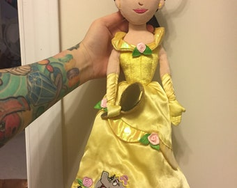 Vintage beauty and the beast belle doll