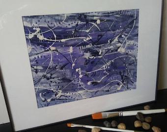 Abstract painting, brush strokes, brush lines, abstraction, modern art, art visuals, artwork, original painting