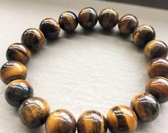 AAA- Tiger Eye Stone Bracelet - FREE Shipping