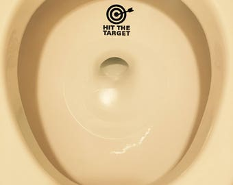 """Funny """"Hit The Target"""" toilet decal"""