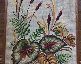 Hand embroidered image, vintage, made in the seventies