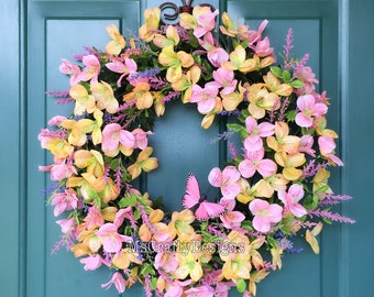 Alstroemeria Wreath, Spring Wreath, Summer Wreath, Front Door Decor