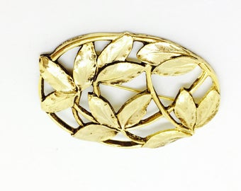 Brooch vintage signed / m/  in style new art