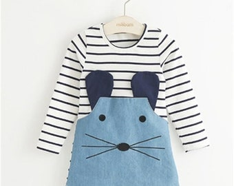 Baby Girls Cute Mouse Dress