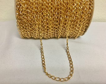 5mm gold plated chain