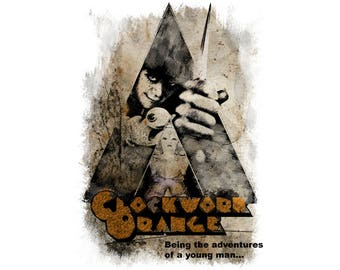 T-SHIRT: Clockwork Orange / Adventures Of A Young Man - Classic T-Shirt & Ladies Fitted Tee - (LazyCarrot)