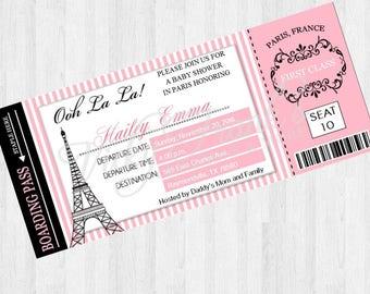Baby Shower; Paris; Baby Girl;Eiffel Tower