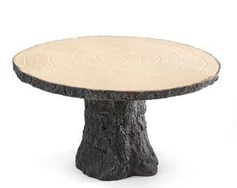 Rustic Log Cake Stand