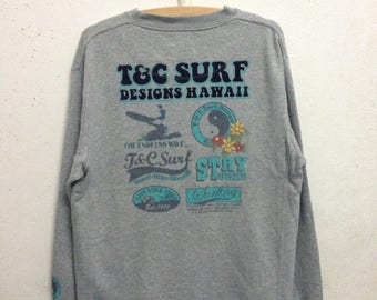 Vintage 90's T & C Surf Designs Hawaii Sweatshirts Size M