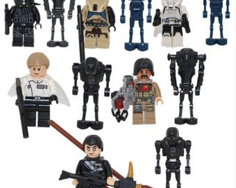 Lot of 12 Lego figures Star Wars customized
