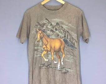 Vintage Horse T Shirt Size Medium