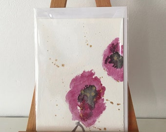 3 Greeting Cards, Original Hand Painted Greeting Cards