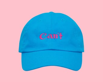 Tumblr Dad Hat, Cool Dad Hats, Aesthetic Clothing, Logo Dad Hat, Embroidered Hat, Baseball Cap, Tumblr Hat, Summer Hat, Beach Hat, Blue Hat