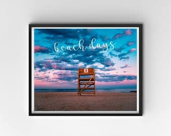 Sunset PRINTABLE, Sunset Print, Beach Wall Art, Beach Print, Beach Print, Ocean Print, Printable Quote, Inspiration, Beach Decor, Motivation