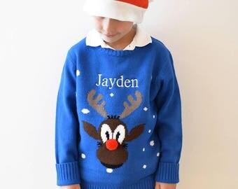 Personalised Kids' Christmas Jumper