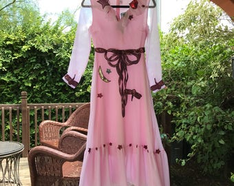 Pink, Ribboned Dress