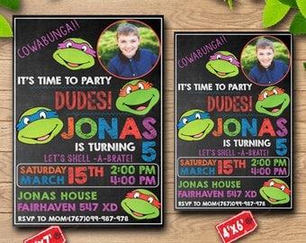 Teenage Mutant Ninja Turtle/Teenage Mutant Ninja Turtle Invitations/Teenage Mutant Ninja Turtle Birthday/Teenage Mutant Ninja Turtle Invites