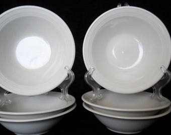 Anchor Hocking Stoneware Set of Six (6) Cereal Bowls