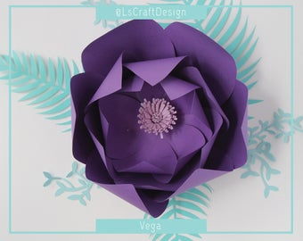 PDF Paper Flower, Flower Template, Giant Paper Flower Template, Paper Flower Template, Base and Instruction Including